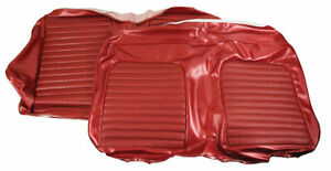 1968 Mustang Rear Convertible Bench Vinyl Seat Cover maroon