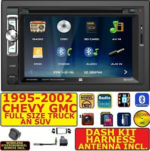 95 02 Gm Truck suv Cd dvd Bluetooth Usb Sd Aux Car Radio Stereo Package