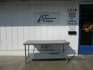 Stainless Steel Table 72x30 With Drawer 4604