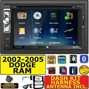 2002 2005 Dodge Ram 1500 2500 3500 Cd dvd Bluetooth Usb Aux Sd Car Stereo Radio