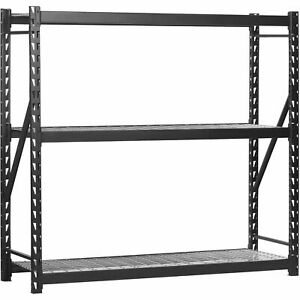Storage Shelves 72 h X 77 l X 24 w 3 Shelf Welded Steel Local Pickup Only