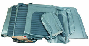 1966 Mustang Standard Front Bench Rear Seat Cover Set Turquoise