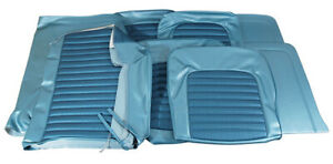1966 Mustang Convertible Standard Front Buckets Rear Seat Cover Set turquoise