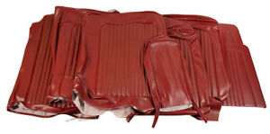 1968 Mustang Standard Front Bench Rear Seat Cover Set dark Red