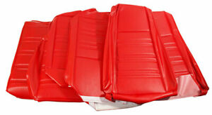1970 Mustang Coupe Standard Front Buckets Rear Seat Cover Set Vermillion