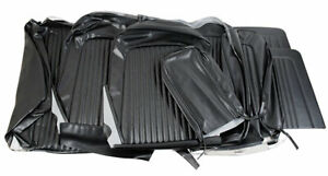1968 Mustang Standard Front Bench Rear Seat Cover Set black