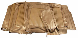 1968 Mustang Convertible Standard Front Bench Rear Seat Cover Set nugget Gold