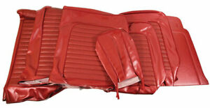 1966 Mustang Standard Front Bench Rear Seat Cover Set red Metallic