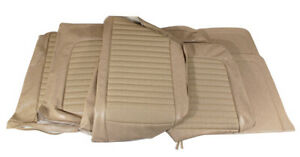 1966 Mustang Standard Front Bench Rear Seat Cover Set Parchment