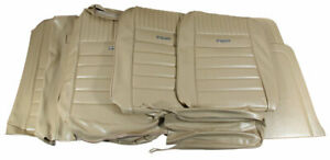 1964 1966 Mustang Conv Deluxe Front Bench Rear Seat Cover Set White
