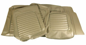 1964 1965 Mustang Vinyl Seat Cover Set Conv Std Front Bench Rear Ivy Gold