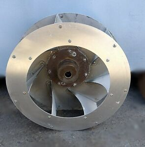 Dryer 12 1 2 Riverted Impellor Blower Fan W 3 4 Bore Adc P n 802831 used