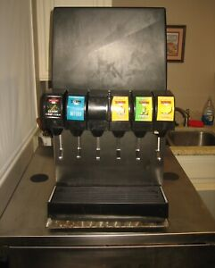 Soda Fountain With Six Flavor Spigot Or Taps