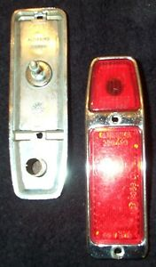 Nos Pair Of Altissimo Side Marker Lights Reflectors lot Rear Red New Old Stock