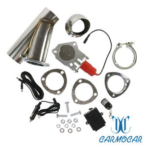 Mannal Electric Exhaust Catback Downpipe Cutout E Cut Out Valve System 2 5 63mm