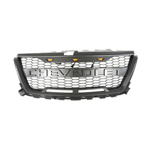 Front Grille Mesh Grill W Black Letters For Chevrolet Colorado 2016 2019 Black