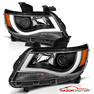 Led Bar Plank Style 2015 2018 Chevrolet Colorado Black Projector Headlights