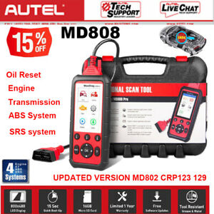 Abs Srs Autel Md808 Obd2 Diagnostic Scanner Tool Auto Fault Code Reader 4 System