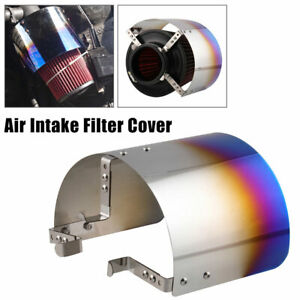 Stainless Steel Air Filter Cover Heat Shield Steel For 2 5 3 5 Cone Filter