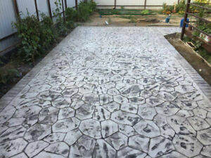 Stone Decorative Polyurethane Stamp For Concrete flower Big Floor And Tracks