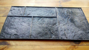 Polyurethane Stamp For Concrete slate N2 for 5 Stones For Floor And Walkways