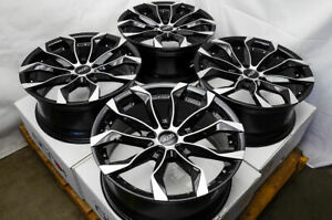 18 Wheels Fit Nissan Altima Juke Maxima Sentra Civic Accord Black Rims 5x114 3