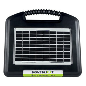 Patriot Solarguard 555 Solar Electric Fence Charger Energizer 30 Mile 100 Acres