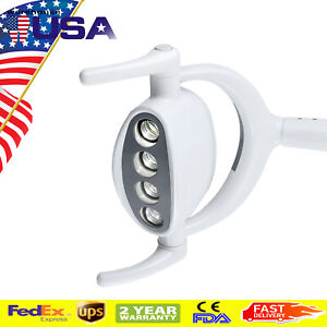 6000 15000lx Dental Shadowless Oral Light Lamp W 4led Lens For Dental Chair Unit