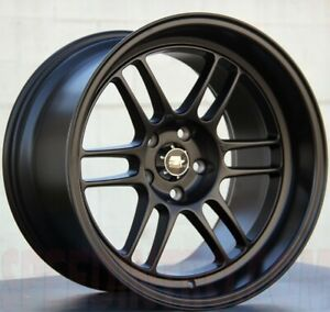 Set Of Four New Mst Wheels Suzuka 16x7 4x100 114 3 25 Matte Black
