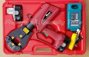Burndy Pat81kft 18v Hydraulic Battery Operated Dieless Crimper Crimping Tool