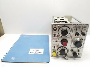 Tektronix Type Z Plug in Unit Calibrated Differential Compartor Preamplifier