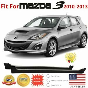 Fit For 2010 2013 Mazda 3 Jdm Vip Mod Style Side Skirts 4 5dr Body Kit Black