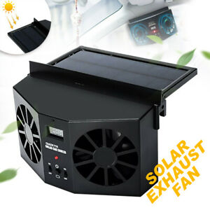 Mini Solar Dual Fan Auto Car Window Powered Air Vent Outlet Ventilator Cooler