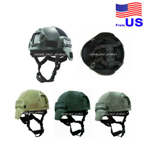 Airsoft Tactical Hunting MICH 2000 Combat Helmet with Side Rail amp; NVG Mount USA $30.59