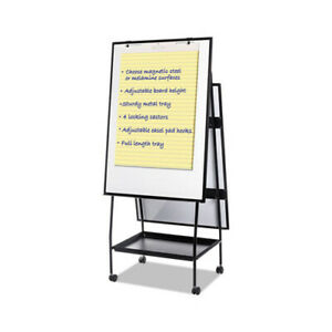 Mastervision Creation Station Magnetic Dry Erase Board 29 1 2 X 74 7 8 Black