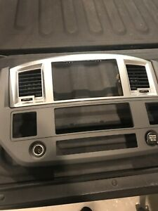 2006 2009 Dodge Ram Radio Dash Bezel Slate Gray Mopar Genuine Oem Used