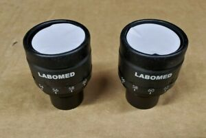 Labomed 9130010 W f 10x 18 Focusable Microscope Eyepiece Pair