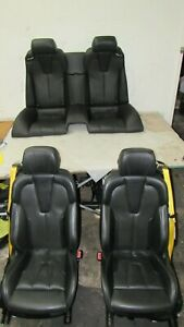12 16 Bmw F12 M6 Black Leather Interior Front Left Right Seats Rear Back Seat