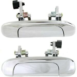 Pair Set Of 2 Exterior Door Handles Rear Left and right Lh Rh For Protege