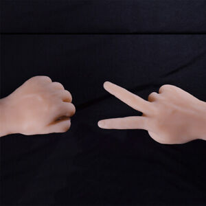 1 Pair Realistic Male Men Mannequin Fake Hands Jewelry Watch Display Manikin