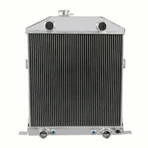 3 Row Radiator For Ford Mercury Coupe Car Flathead Engine 1942 1948 43 44 45 D51