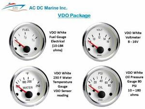 Vdo Package 4 White Gauges
