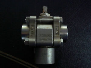 Whitey Ss r63xtf8 1 2 Npt 3 Way Rapid Cycle Valve Stainless Steel