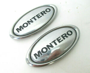 Mitsubishi Montero Xls Limited Front L R Fender Badge Chrome Logo Emblem 01 06