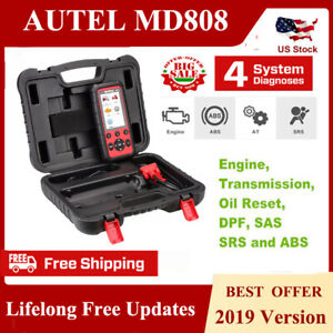 Autel Maxidiag Md808 4 Systems Obd2 Abs Srs Epb Engine Diagnostic Scanner Tools