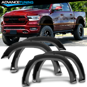 Fits 19 20 Dodge Ram1500 Pocket Rivet Style Smooth Unpainted Fender Flares Pp