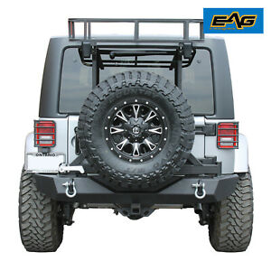 Eag Fits 97 18 Jeep Cargo Rack For Rear Bumper With Tire Carrier
