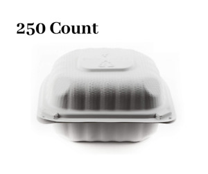 250 Pack 6 X 6 Clam Shell Take Out Food Container
