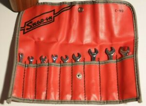 Snap On Tools C 90 Wrench Set Vintage Pouch Set Of 9 Complete Vintage