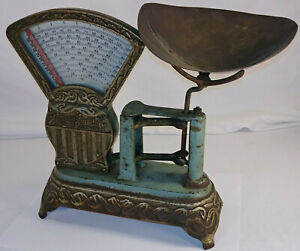 Antique National Store Specialty Candy Scale W Bin Lancaster Pa Vintage Metal